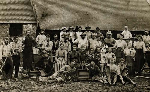 Friaulische Ziegelarbeiter in Bayern um 1900