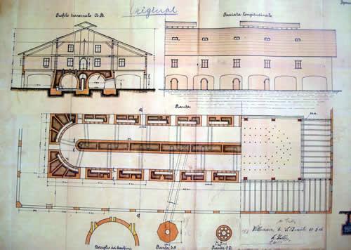 Plan zum Bau eines Ringofens, der um 1900 eine technische Innovation darstellt