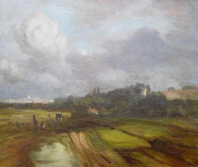 """Neuerwerbung des Heimatmuseums Vilsbiburg: Studie """"Bei München"""" von Eduard Schleich d. A."""